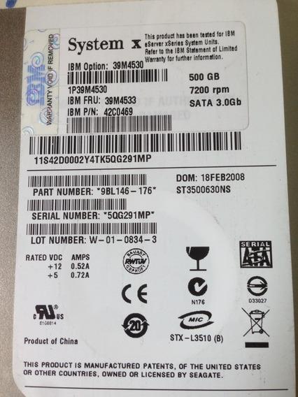 Hds Ibm System X 500gb 7200rpm, 39m4533 Com Gaveta ( O Par)