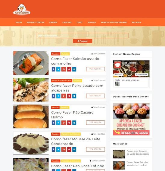 Vendo Site De Receitas + Dominio + Hospedagem Grátis