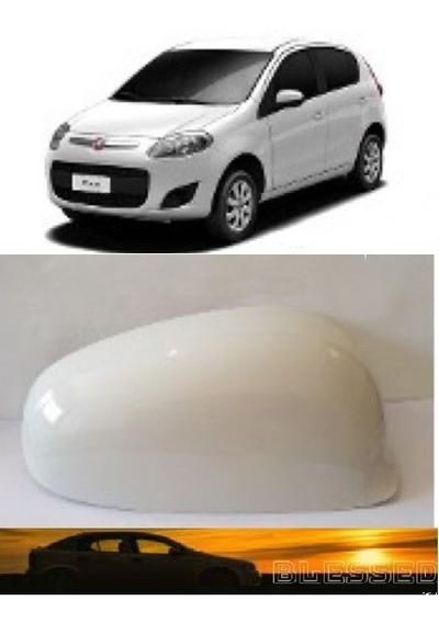 Capa De Retrovisor Novo Palio Branco Banchisa Lado Esquerdo
