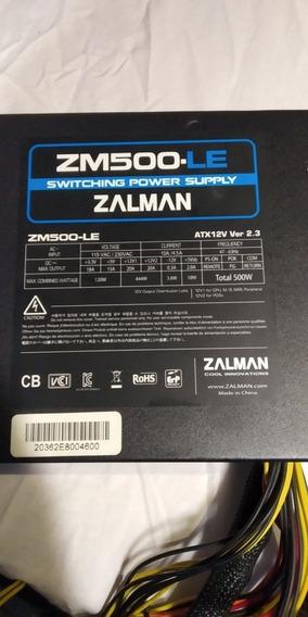 Fonte Zalman Zm500-le 500w Real Para Pc Game