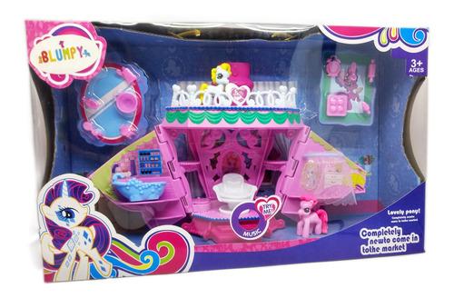 Casa Ponypon Con Pony Y Accesorios