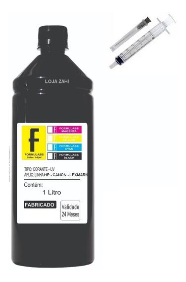 1 Litro Tinta Corante Formulabs P/impressora Hp Preto Black