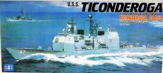Barco Uss Ticonderoga Missile Cruiser Escala 1/700 Lee 01081