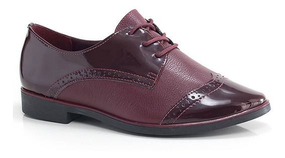 Oxford Bottero Chic Em Couro - Vanda Calçados