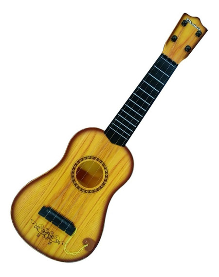 Violão De Brinquedo Infantil Diversão Musical Com Palheta