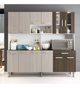 Armário De Cozinha 12 Portas 1 Gaveta Clara Poliman Ej