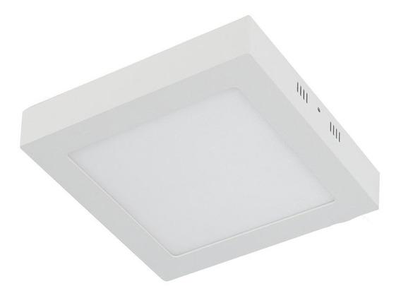 Kit 8 Plafon Sobrepor 18w Led Quadrado Painel Spot Luminari