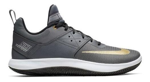 Tênis Nike Fly By Low Ii Cinza Dourado Basquete Original!