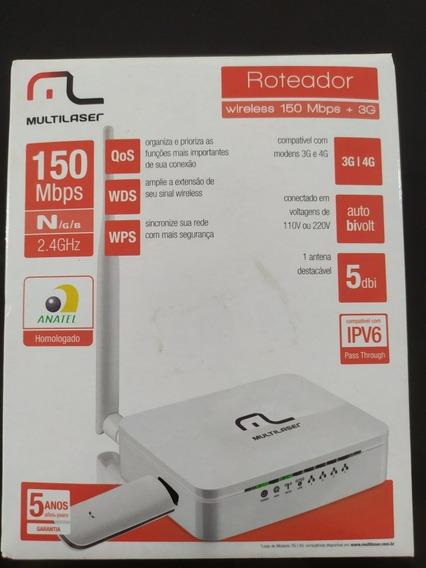 Roteador Wireless 150 Mbps + 3g Multilaser