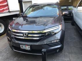 Honda Pilot 3.5 Touring At 2016 Gris Piel Quemacocos
