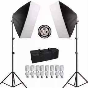 Iluminação Kit 2x Softbox 50x70 Lâmpadas Bolsa Tripe 360w
