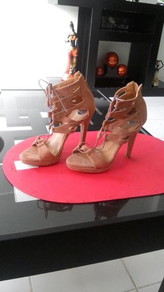 Sexis Zapatillas De Hilo Color Nude Num 23.5 Marca Lob