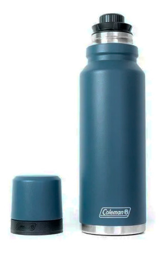 Imagen 1 de 10 de Termo De Acero Inoxidable Coleman Azul 700ml Con Pico Matero