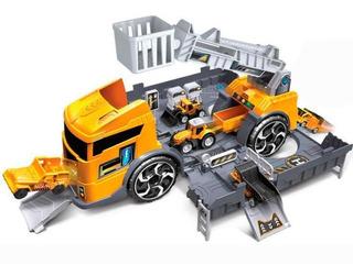 Camion Bombero Grua 2 En 1 Carros Friccion Juguetes 139768