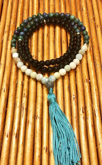 Japamala Lazis Lazuli E Crisocola, Amazonita E Onix