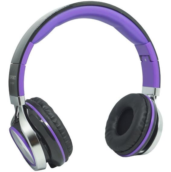 Fone Ouvido C/ Fio Headfone P2 Microfone Bass Celular Roxo