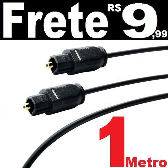 Cabo De Áudio Óptico Digital 1 Metro Toslink Otico Gold Home