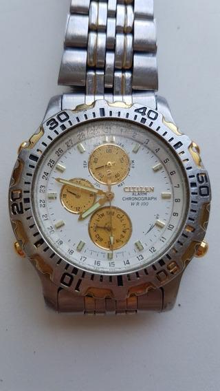 Relógio Citizen Alarm Chronograph Wr 100 - Usado