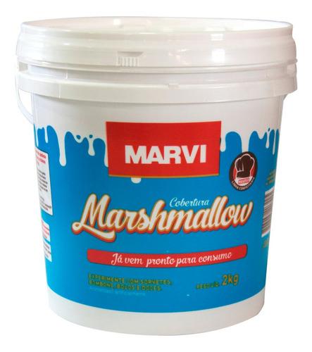 Marshmallow Em Pasta Pronto 2kg Marvi