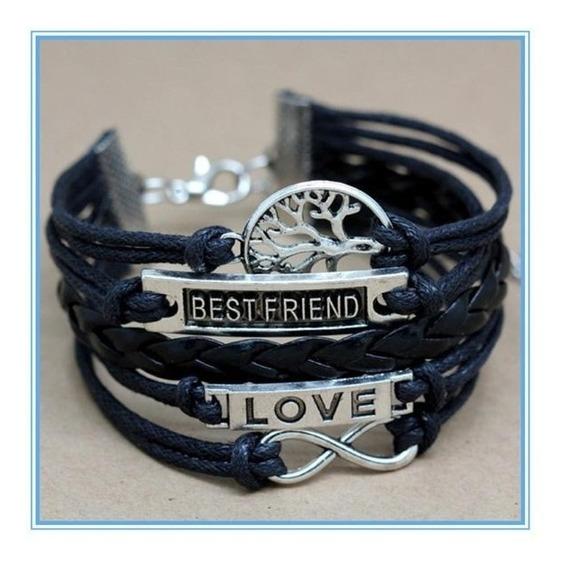 Pulseira Best Friends + Arvore + Love + Infinito