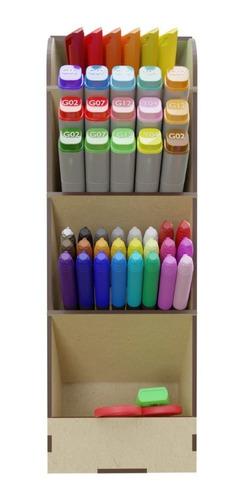 Organizador Plumones Plumas Colores Estante Art8811