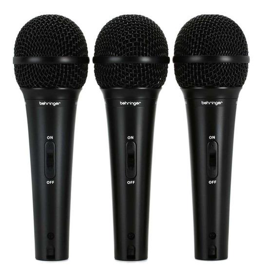 Kit de microfones Behringer XM1800S dinâmico supercardióide preto