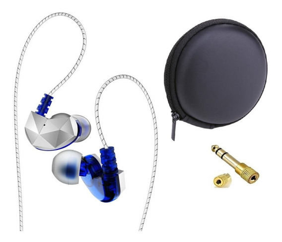 Fone In Ear Qkz Ck6 Retorno Monitor De Palco Esportes Corrida Caminhada Fitness + 2 Brindes