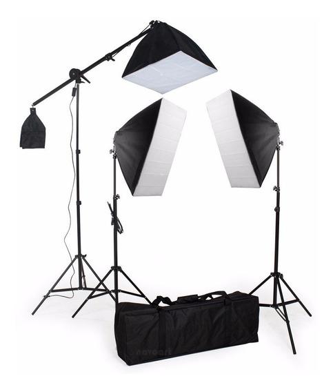 Estúdio Kit Iluminação Dslr P/ Fotografia Video Pk-sb03 220v