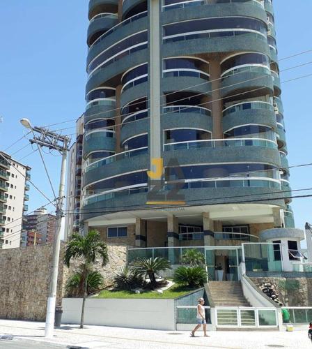 Belíssimo Apartamento De  Cobertura De 800 M2 Frente Mar - Vila Guilhermina - Praia Grande - Sp - Ap6343