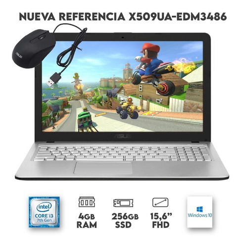 Portátil Asus X509ua-ej345 15 Core I3 8gb 256gb Ssd Win 10