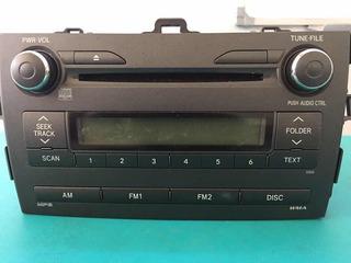 Auto Rádio Cd Player Original Toyota Corolla 09 A 2013