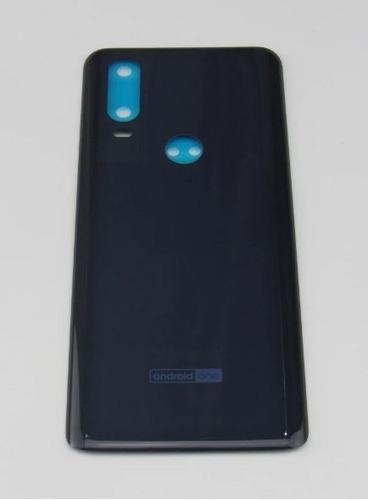 Tampa Traseira Motorola One Action Azul Xt-2013 Original