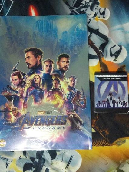 Avengers Endgame Steelbook Bluray Y Dvd + Litografia Nuevo