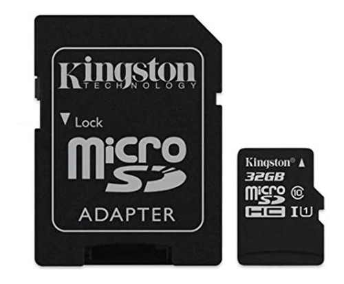 Memoria Micro Sd Kingston 32gb 100mb/s Clase 10 Canvas Plus