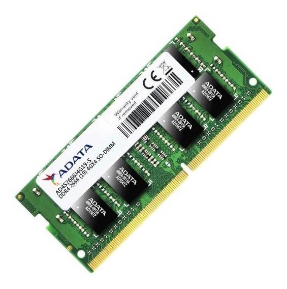 Memoria RAM 4GB 1x4GB Adata AD4S2666J4G19-S