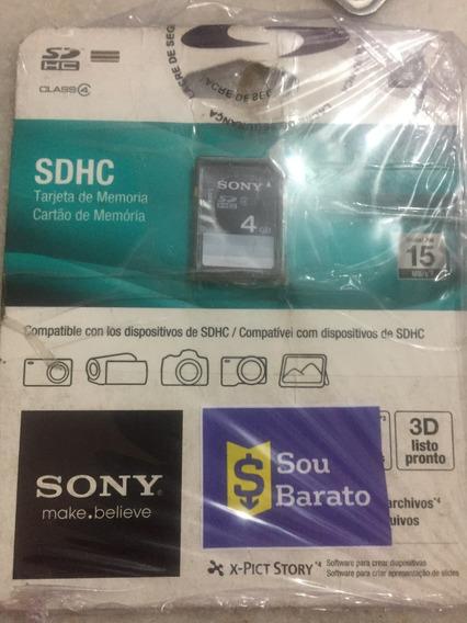 Cartão De Memoria Sony 4g Sdhc Original