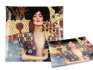 Plato En Cristal Cuadrado 25 Cm Judith Klimt