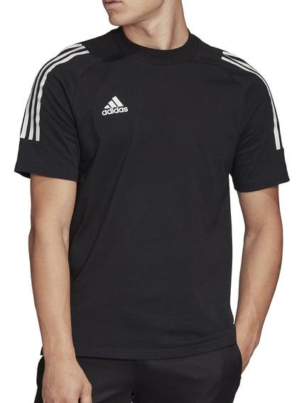 Remera adidas Futbol Condivo 20 Hombre Ng/bl