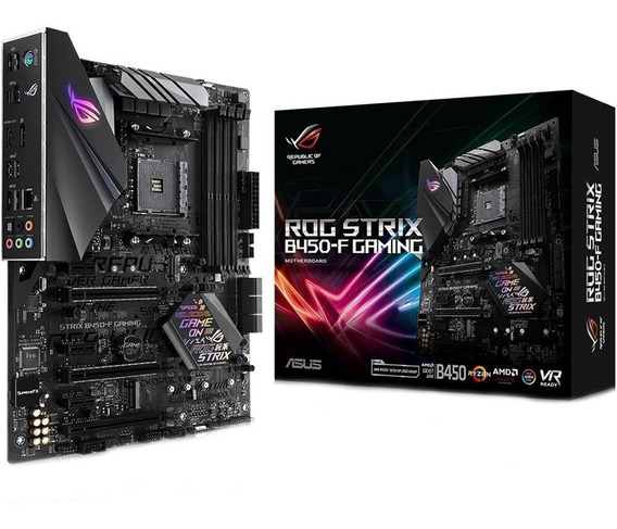 Placa Mãe Asus Rog Strix B450-f Gaming Amd Am4 Ryzen B450