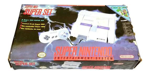 Vídeo Game Super Nintendo Na Caixa Com Super Mario World