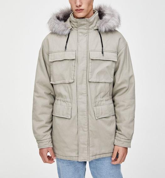 Abrigo Jacket - Gabardina Beige - Peluche - Talla L