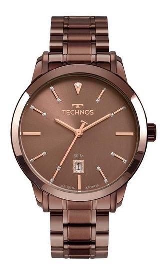 Relogio Technos Feminino Chocolate 2115muw/4m