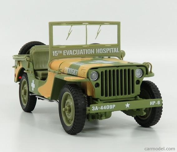 Jeep Willys Mb Ambulancia Segunda Guerra 1/18 Auto World