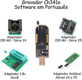 Ch341a Gravador Usb Eprom Bios Soic8 Sop8 Série 24xx 25xx