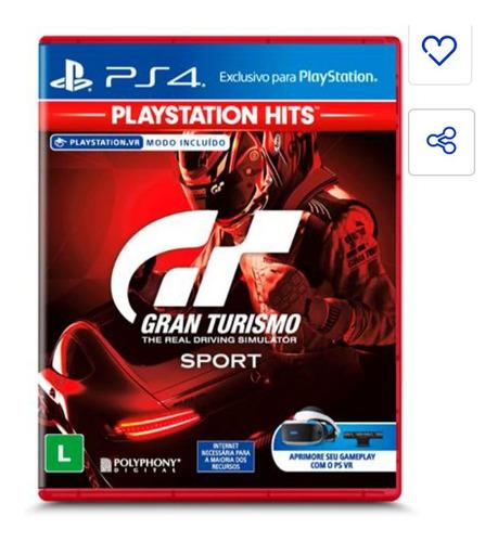Gran Turismo Ps4 Mídia Digital