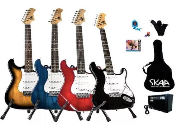 Paquete Guitarra Eléctrica Stratocaster Skala Todo Incluido