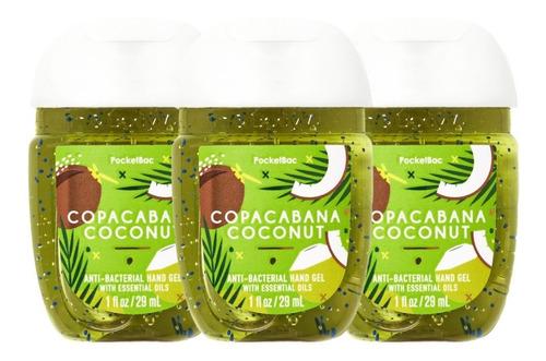 Gel Antibacterial Bath & Body Works Copacabana Coconut 3pz