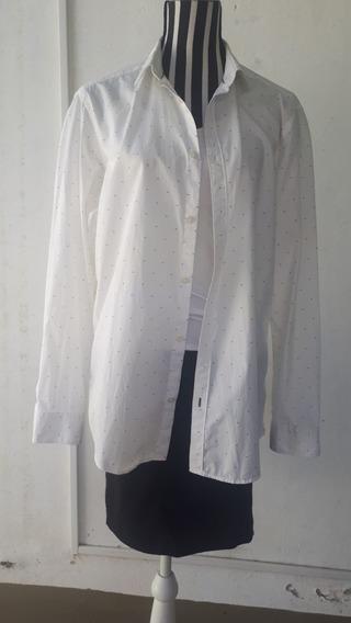 Camisa Blanca, Con Detalles, Esprit, Clothing Co. Salta