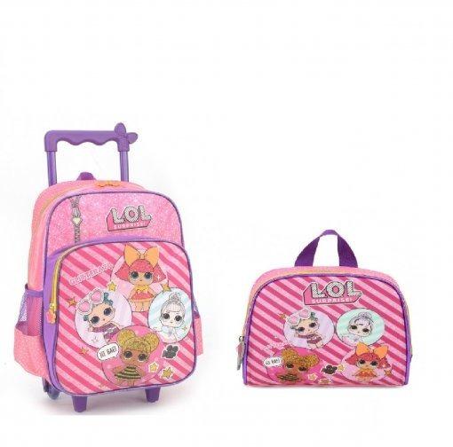 Kit Mochila Lol Surprise + Lancheira Pink