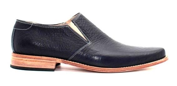 Zapatos Hombre De Vestir Cuero Vacuno Sin Cordon Eslastico
